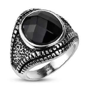 Gecko Eye Onyx Gem Cast Ring   Size 14 West Coast Jewelry Jewelry