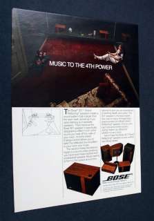 BOSE 301 Direct/Reflecting Speakers 1982 print Ad
