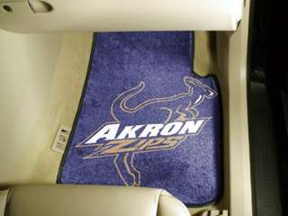 University of Akron Zips Car Auto Floor Mats Front Seat