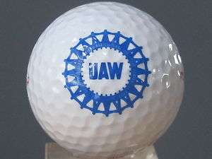 UAW UNITED AUTO WORKERS LOGO GOLF BALL
