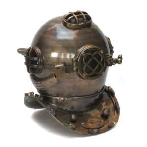 Size Replica US Navy Mark V Weathered Diving Helmet: Home & Kitchen