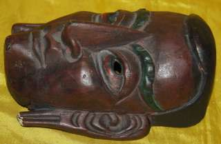 name wonderful amazing real old antique tibetan folk ritual carved