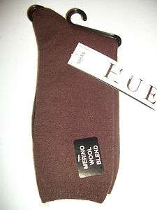 HUE MERINO WOOL BLEND SOCKS ONE SIZE 207 ESPRESSO