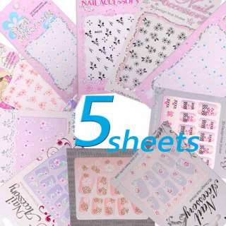 NEW 5 x 3D DESIGN NAIL ART STICKER DECAL FLOWER AND BUTTERFLY CHOOSE 5