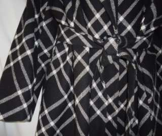 Anne Klein NWT Black Plaid Wool Blend Coat Size 3X 701643457083