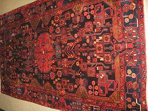 Persian Hand Knotted Wool Nahavand Kurdish Senneh Rug 5 4 x 9 3