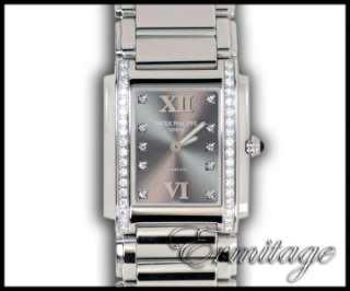 For Tiffany Twenty 4 Ladies Diamond Watch 4910/10A Box & Papers