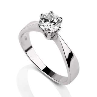 CT F SI REAL DIAMOND ENGAGEMENT RING YELLOW GOLD 18K