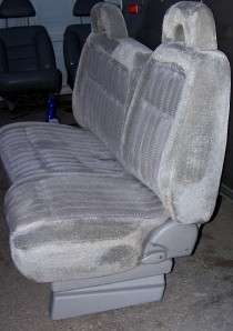 92 CHEVY TRUCK GRAY power 60/40 bench BUCKET SEATS chev