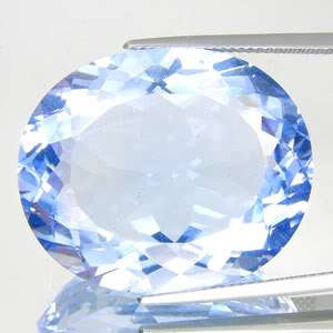 42.25CT AAA FLASHING OVAL CUT TOP SKY BLUE TOPAZ NR