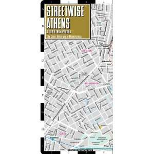 Athens Map   Laminated City Center Street Map of Athens, Greece