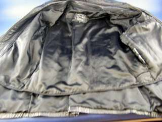 Tannery West Mens Winter Black Soft Leather Car Coat Lined Thinsulite