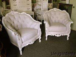 Fab Carved Big Comfy Living Room Chair ~ French Linen