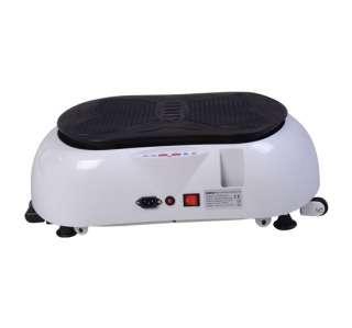 Fit Vibrating Plate Full Body Vibration Massager Machine White