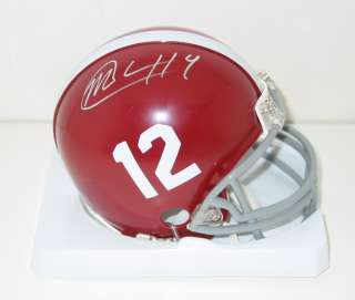 MARK BARRON signed ALABAMA mini helmet auto ROLL TIDE