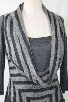 Joseph Ribkoff Charcoal Grey Dress Size 8 10 12 14 New NWT Fall 2011
