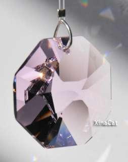 Swarovski 8015 Crystal Prism 28mm Rosaline Octagon