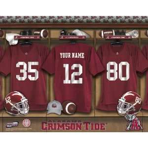 Personalized Alabama Crimson Tide Football Locker Room