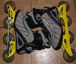 Rollerblades PFS with Elite Racing Frames 84MM Wheels Mens 7