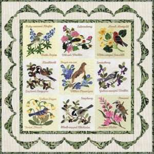Me Not Alaska Flower Bird P3 Quilt Patterns BOM Set: Kitchen & Dining