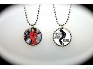 MICHAEL JACKSON Thriller   2 sided necklace