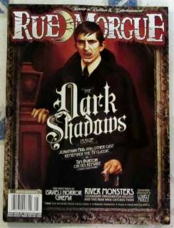 RUE MORGUE Tim Burton # 122 May 2012 DARK SHADOWS Jonathan Frid TV