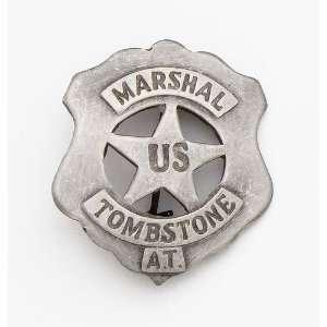 SILVER U.S. TOMBSTONE MARSHALL BADGE: Everything Else