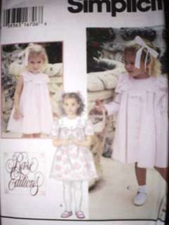 UNCUT Simplicity Pattern Toddler Dress Coat 9465 OOP