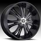 24 DUB 24x9.5 Black Mamba Matte Black Wheel & TIRE Package 24inch