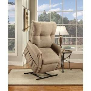 Two Way Reclining Lift Chair Fabric Stampede   Chocolate