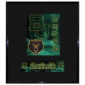 Baylor University Bears BU NCAA Basketball 13 X 15 Framed Logo Wall