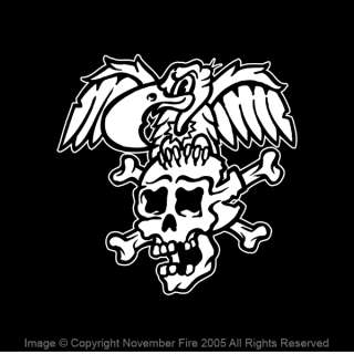 Skull and Vulture Shirt Tattoo Cartoon Rockabilly Punk