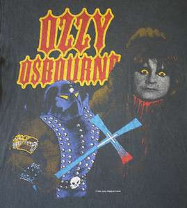 OZZY OSBOURNE Vintage 1982 Tour Shirt BLACK SABBATH Metal Rock Concert