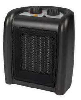 Westpointe 120 Volt 750/1500 Watt Black Compact Ceramic Heater w