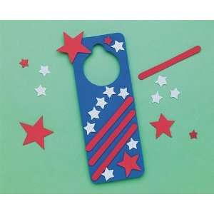 Star Spangled Door Hanger Craft Kit (Makes 12): Toys & Games