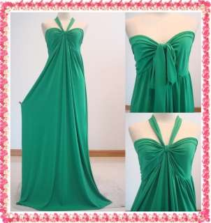 New Womens Party Summer Green Halter Prom Long Maxi Dress Sz M L XL 8
