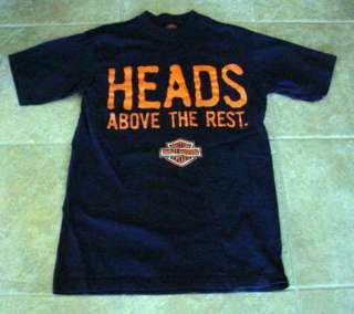 Harley Davidson HEADS ABOVE THE REST Sz Med T Shirt