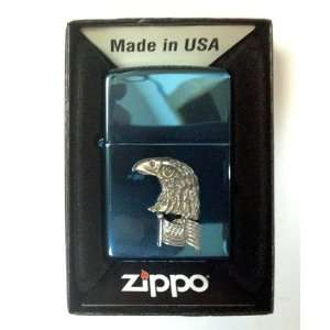 Zippo Custom Lighter   American Bald Eagle on USA Us Flag Emblem Logo