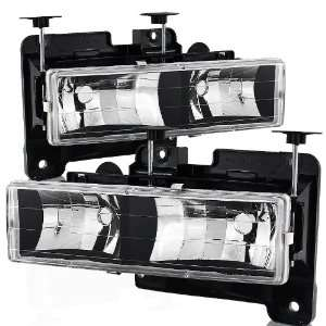 88 02 Chevy/GMC C10 Truck Black Housing Headlight