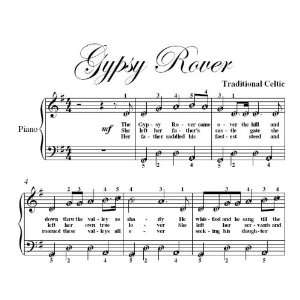 Gypsy Rover Easy Piano Sheet Music Traditional Celtic
