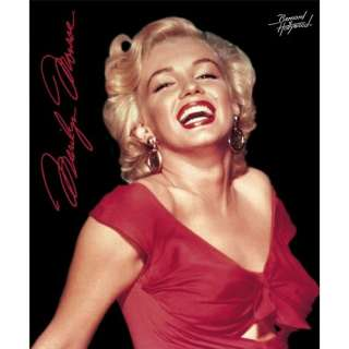 New Original Licensed Marilyn Monroe Red Dress Queen Size Mink Blanket