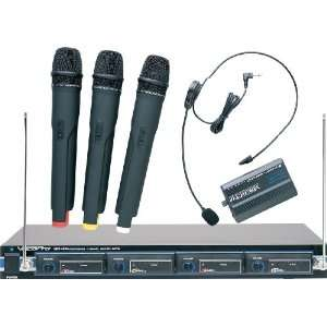 VocoPro VHF 4800 4 Channel VHF Wireless Microphone System