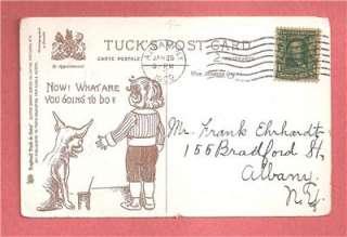 BUSTER BROWN & TIGE On Vintage 1909 TUCK VALENTINES DAY Postcard