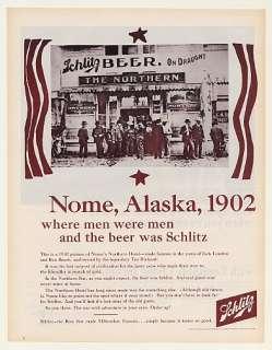 1965 Schlitz Beer Nome Alaska 1902 Northern Hotel Ad