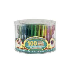 100 Geli Stix Gel Pens Classpack: Office Products