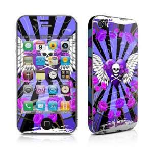 & Roses Purple Design Protective Skin Decal Sticker for Apple iPhone