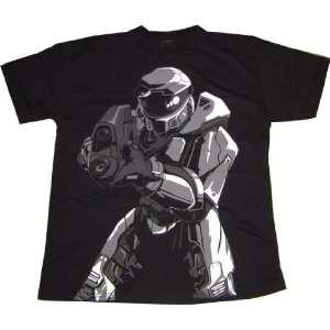 Halo 3: Master Chief Pointing Gun Black Sheer T Shirt: