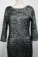 Makali Sequin Grey Cocktail Dress Size 6 10 14 New NWT Designer