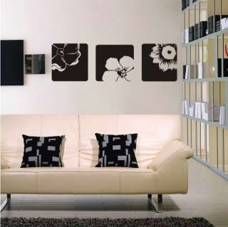 Pretty Flower Decor Mural Wall Sticker Decal Y318 (various colors
