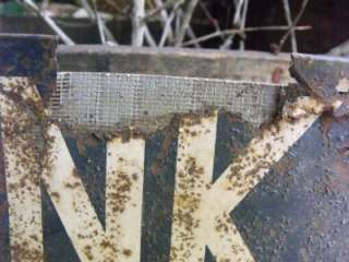 Early Antique Primitive American Dairy Association Sign Shabby Rusty